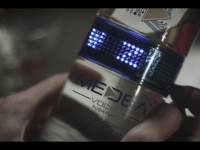 Vodka bottle gets LED display – To get the Message Across !!!