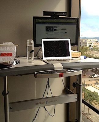 treadmill desk is a great way to give new dimension to workspace!